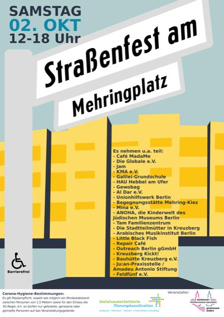 Plakat Straßenfest Mehringplatz
